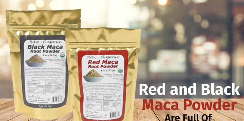 organic raw red and black maca powder